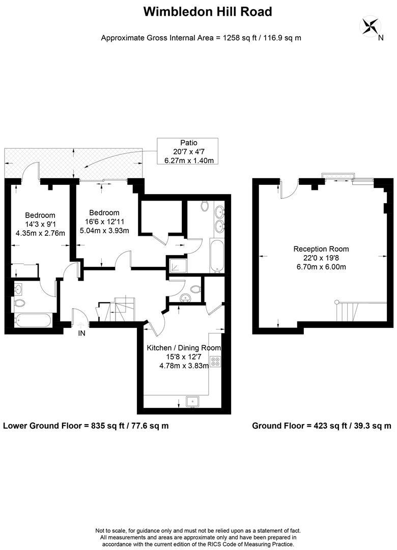 Floorplan for Iona, Wimbledon Hill Road, Wimbledon